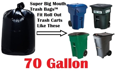 70 Gallon Trash Bags Super Big Mouth Bags Large Industrial