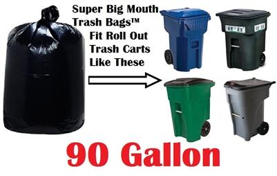 90 Gallon Trash Bags Super Big Mouth Bags X Large